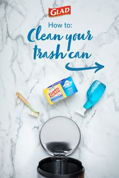 Is your home plagued by a stinky trash can? Eliminate garbage smell at the source with this step-by-step guide to easy trash can cleaning – including tips for cleaning outdoor garbage cans, too. House Cleaning Checklist, Diy Home Cleaning, Homemade Cleaning Products, Household Cleaning Tips, Deep Cleaning Tips, Cleaning Recipes, Natural Cleaning Products, Cleaning Solutions, Spring Cleaning