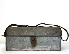 Amazing very old ZINC french TOOLBOX Industrial by RueDesLouves