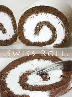 Chocolate Swiss Roll - Jelly Roll - Sprong Cake Recipe - Eugenie Kitchen