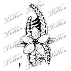 Marketplace Tattoo Plumeria Polynesian Style #5964 | CreateMyTattoo.com