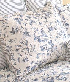 Blue ticking for Brighton Toile Bedding Roman Curtains, Drop Cloth Curtains, Linen Curtains, Tapestry Curtains, Patterned Curtains, Layered Curtains, Luxury Curtains, Short Curtains, Yellow Curtains