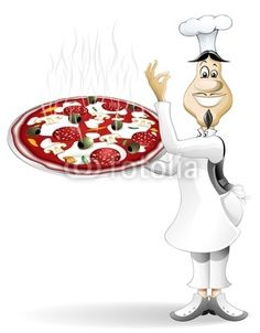 Cook-Chef with Pizza-Vector © bluedarkat