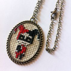#babysupervilain #babysuperhero #superhero #crossstitch #necklace #jewelcreator #jewerly #jewels #handcraft #handmade #cross #creator