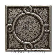 "2""X2"" Threads Decorative Metal Insert - Pewter"
