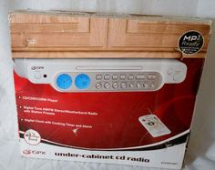 Brand New In Original Box GPX Under Cabinet CD Radio Weather Band MP3 Ready  #GPX