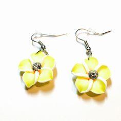 Hawaiian Plumeria earrings yellow Hawaiian Plumeria earrings yellow lightweight summer earrings Jewelry Earrings
