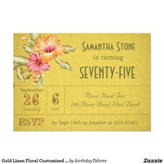 Gather guests with amazing birthday invitations from Zazzle! Birthday party invitations in a range of themes! Birthday Party Invitations, Birthday Parties, Milestone Birthdays, Paper, Floral, Gold, Anniversary Parties, Flowers, Birthday Celebrations