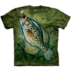 Crappie Fish The Mountain Adult Size T-Shirt in Clothing, Shoes & Accessories, Men's Clothing, T-Shirts Biker, Crappie Fishing, Bass Fishing, Crappie Lures, Fishing Tips, Fishing Basics, Fishing Reels, Fishing Stuff, Steampunk