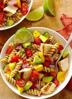 Cilantro-Lima Pasta Salad!!! Perfect for any summer occasion! |bhg.com