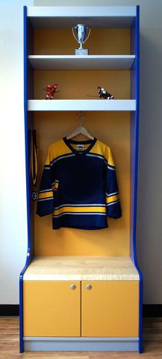 Flyers locker room room signs lockers and room for Kids locker room furniture