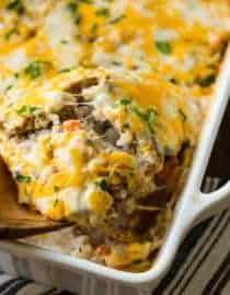 Cheesy Ground Beef And Rice Casserole Oh Sweet Basil Recipe Recipes Easy Soup Recipes Ground Beef Dishes