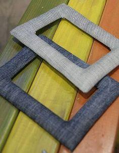 Recycled Upcycled denim old jeans FRAMES   RECICLAR REUTILIZAR VIEJOS PANTALONES TEJANOS FORRAR MARCOS DE FOTOGRAFIAS O CUADROS