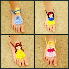 Ravelry: Princess Barefoot Sandals pattern by Teresa Jimenez