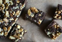 Raw Vegan Paleo **FUDGE** - So Easy! Just mix coconut oil, cacao/cocoa, maple syrup, and optional chopped walnuts. http://www.forestandfauna.com/