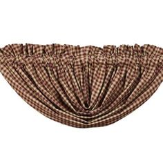 Burgundy Check Collection: Burgundy Check Balloon Valance by VHC Brands. Burgundy Curtains, Beige Curtains, Purple Curtains, No Sew Curtains, Drop Cloth Curtains, Cheap Curtains, Burlap Curtains, Colorful Curtains, Hanging Curtains