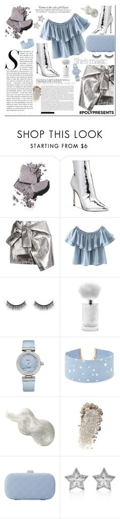 """Silver and blue"" by danielleadi ❤ liked on Polyvore featuring Bobbi Brown Cosmetics, ALDO, WithChic, Vanity Fair, Nicole, Battington, OMEGA, Forever 21, La Sera and CZ by Kenneth Jay Lane"