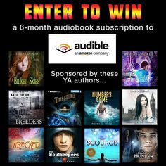 """6 Months of Audiobooks"" Giveaway http://www.ellecasey.com/giveaways/ya-author-audiobook-giveaway/?lucky=284"