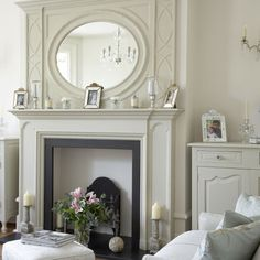 What we really need is a mirror - simple yet elegant (put the faux moulding around it??)