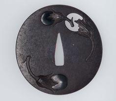 Tsuba with design of nasubi | Museum of Fine Arts, Boston