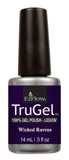 Wicked Ravens TruGel Mystic Nights Collection #EZFlow #EZFlowNails #GelNails #TruGel #GelPolish #TruGelPolish #EZFlowTruGel #Nails #Manicure #Gels #EZFlowNailSystems