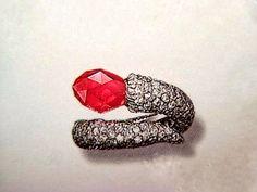 JAR Paris - 1979. Briolette Sapphire - Diamonds - Platinum. Estimate 3.600$ -  7.200$ / LOT SOLD 13.396$ [C Ge. - 17 May 1999] merci @thierrymartin