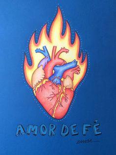 HEART LOVE FAITH - CORAÇÃO AMOR DE FÉ ARTE - Zamba - Zambayes