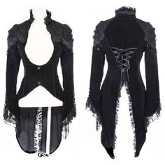 Gothic Victorian Vampire Corset Back Velvet Jacket ($65) ❤ liked on Polyvore featuring outerwear, jackets, gothic velvet jacket, victorian jacket, velvet jacket, gothic jackets and gothic victorian jacket