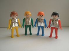1974 Playmobil Geobra Knights 4 piece set  by GirlyStuffByDeJaVu, $15.00