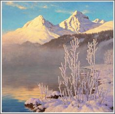 Ivan Fedorovich Choultsé (1877-1932), Vue du lac de Saint-Moritz.