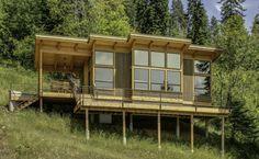 diseño de casa con vista panorámica