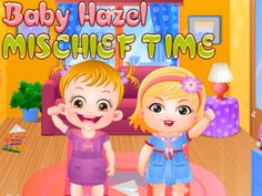 Baby Hazel Mischief Time - another free online Baby Hazel game where you can see how these two friends are spending their freedom time.