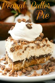 Frozen Peanut Butter Pie :: Blooming on Bainbridge