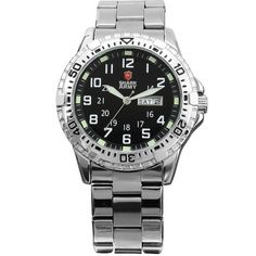 Shark Army Mens Date Day Luminous White Silver Military Sport Quartz Watch  Box SAW018 -- Be sure to check out this awesome product.