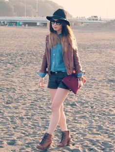 xoxo hilamee shirt sunglasses jeans jewels jacket shorts