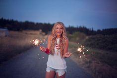 Senior Photos Fireworks Sparklers