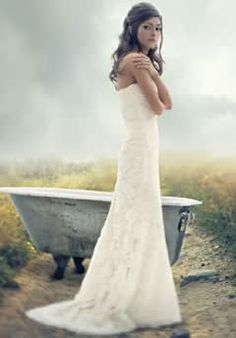 Oatmeal color wedding dress