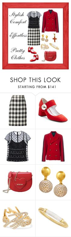 """""""Meet and Greet"""" by karen-galves on Polyvore featuring Pierre Cardin, RED Valentino, Jean-Paul Gaultier, Love Moschino, Gurhan, Stephen Webster, Roberto Coin, women's clothing, women and female"""