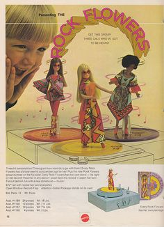 Rock Flowers - Who remembers the awesome records that came with these dolls? Sweet Times! Sing My Song! 3 To Get Ready!