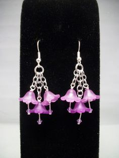 Spring Bouquet Earrings in Purple by GypsyGrove on Etsy, $15.00