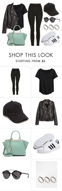 """Sin título #12004"" by vany-alvarado ❤ liked on Polyvore featuring Topshop, H&M, rag & bone, Fendi, adidas Originals, Christian Dior and ASOS"