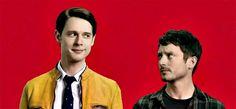 Dirk Gently's Holistic Detective Agency #promo - Dirk (Samuel Barbett) and Todd (Elijah Wood)
