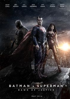 The new batman vs superman movie cover coming out in 2016