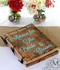 Wedding Advice Book... Link to buy, but seems easy DIY