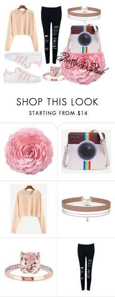 """""""Pretty in Pink"""" by majestic-flame on Polyvore featuring Saro, Miss Selfridge and adidas"""