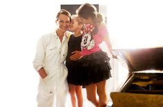 So much LOVE!! Fashion Designer Cynthia Rowley with her two kiddos, Gigi and Kit, ages 6 and 12. via The Glow.