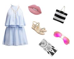 """""""beach outfit"""" by itsrenaesmith on Polyvore featuring Miss Selfridge, Lime Crime, Stuart Weitzman and Ray-Ban"""