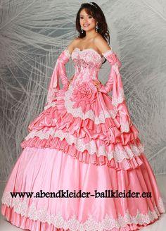 Amerikanisches Abendkleid Ballkleid Brautkleid in Lachs