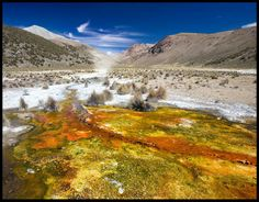 Thermal springs. Bolivia
