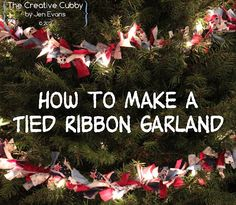 Tied Ribbon Christmas Tree Garland - The Creative Cubby