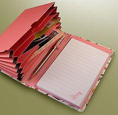 caderno com pasta sanfonada                                                                                                                                                                                 Mais